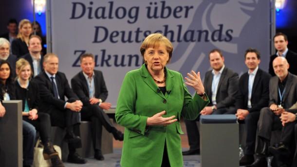 Die Kanzlerin empfaengt 20 Menschen aus dem Volk zur Fortsetzung des Buergerdialogs