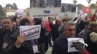 Fremdenführer demonstrieren gegen Terrorismus