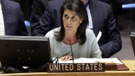 Bekennt sich zum Minsker Abkommen: Nikki Haley, UN-Botschafterin der Vereinigten Staaten.
