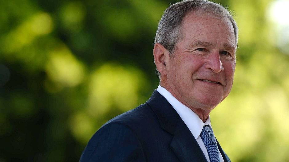 Spät zum Sympathieträger geworden: George W. Bush (Aufnahme von 2017)