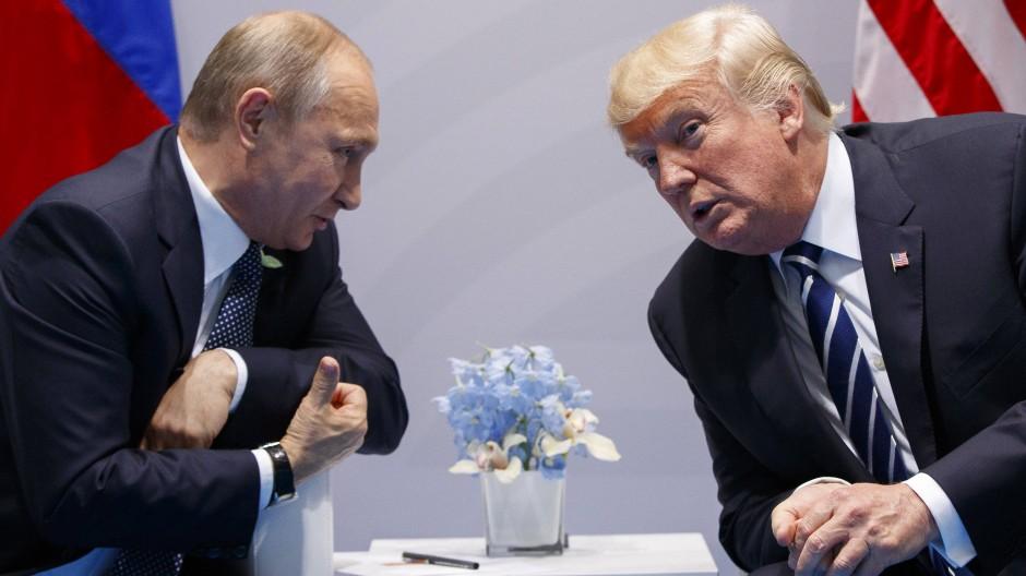 Eine freundliche Zusammenkunft: Putin und Trump auf dem G20-Gipfel in Hamburg im Juli 2017