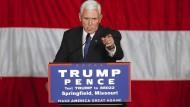 Folgt der Tradition: Der Vizepräsidentschaftskandidat der Republikaner, Mike Pence, hat seine Steuererklärungen veröffentlicht.