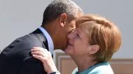 Angela Merkel wird bald einem anderen amerikanischen Präsidenten Wangenküsschen geben müssen.