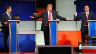 Donald Trump müsste nicht nach links und rechts zeigen, um auf den Favoriten bei den Republikanern zu weisen.
