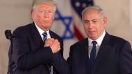 Ein gutes Verhältnis: Donald Trump und Benjamin Netanjahu