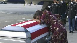 Mutter eines getöteten Soldaten zeiht Trump der Lüge