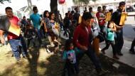 Familien illegaler Einwanderer in McAllen, Texas