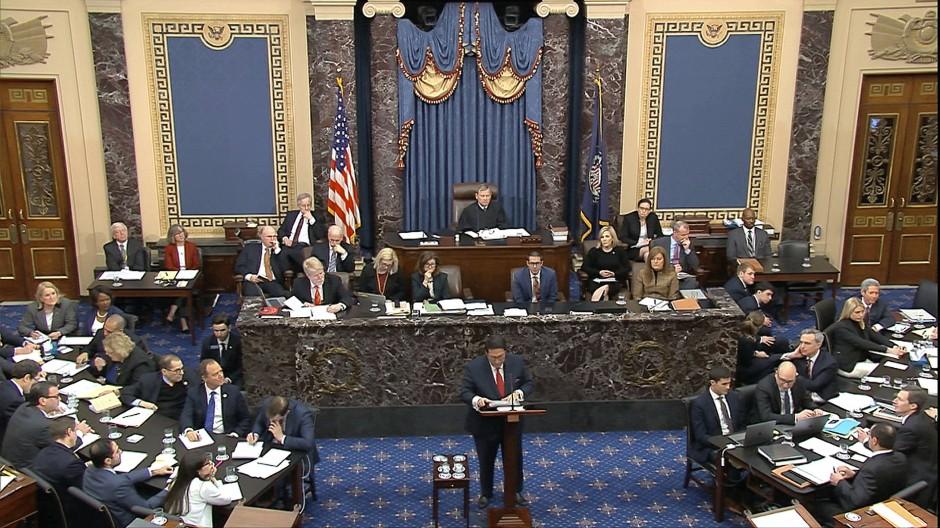 Im ersten Amtsenthebungsverfahren wurde Trump im Januar 2020 im Senat entlastet.