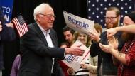 Dem 74 Jahre alten Sanders gelingt es, viele junge Menschen für sich zu begeistern.
