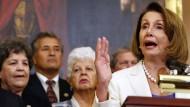 Nancy Pelosi ist Oppositionsführerin im amerikanischen Repräsentantenhaus – und wäre nach der Wahl gerne dessen Sprecherin. Das setzt aber voraus, dass sich die Demokraten spürbar gegen die Republikaner durchsetzen.