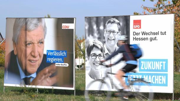CDU kann auf Wahlsieg hoffen
