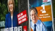 Verblasst die linke Hannelore Kraft neben CDU-Spitzenkandidat Armin Laschet? Die SPD schwächelt auf den letzten Metern.