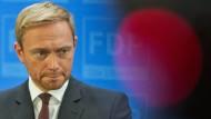 Kampf gegen sinkendes Interesse: der FDP-Vorsitzende Christian Lindner am Montag in Berlin