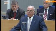 Helmut Kohl verfechtet den Euro
