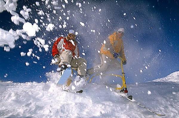 Skifox und Snowbike - davon hatte unser Autor noch nie gehört.