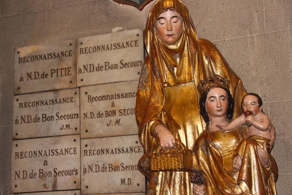 Das Jesuskind beißt herzhaft in eine Niere. Das behauptet hartnäckig die lokale Folklore. Doch ist es wirklich so?