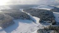 Zur Zeit nur sehr eingeschränkt zu genießen: der verschneite Thüringer Wald.