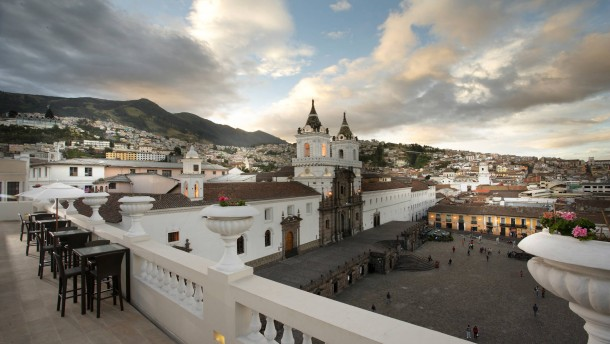 Dachterrasse des Hotels Casa Gangotena in Quito