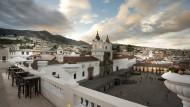 Die Dachterrasse des Hotels Casa Gangotena in Quito