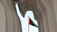 """Die Installation ?The Leader"""" huldigt Dubais autoritärem Herrscher Sheikh Mohammed bin Rashid al-Maktoum."""