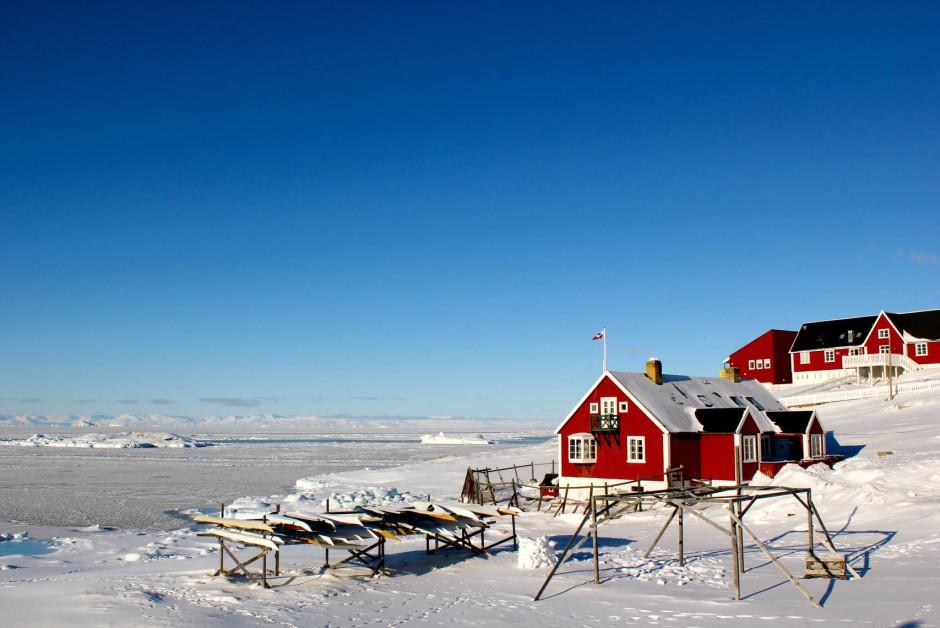 Ilulissat in Westgrönland, trotz kurzer Tage in bestem Licht.