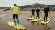 Surfstunde in Strandhill
