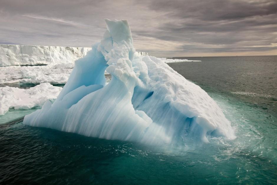 Grund zur Panik: Das Meereis ist seit 1979 um dreißig Prozent zurückgegangen, die Wintertemperatur ist in den vergangenen zwanzig Jahren um sieben Grad und mehr gestiegen.