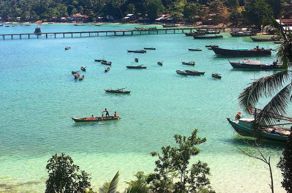 Das Dorf Ma Kyone Galet auf der Insel Bo Cho