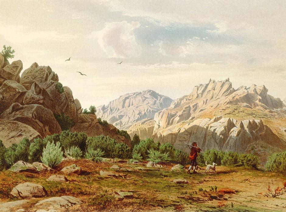 """Ludwig Salvator, Erzherzog von Österreich-Toskana, hat das hochalpine Mallorca bereits vor 150 Jahren erkundet und alles """"geschildert in Wort und Bild""""; hier seine Darstellung des Puig de Galatzó - des Matterhorns Mallorcas."""