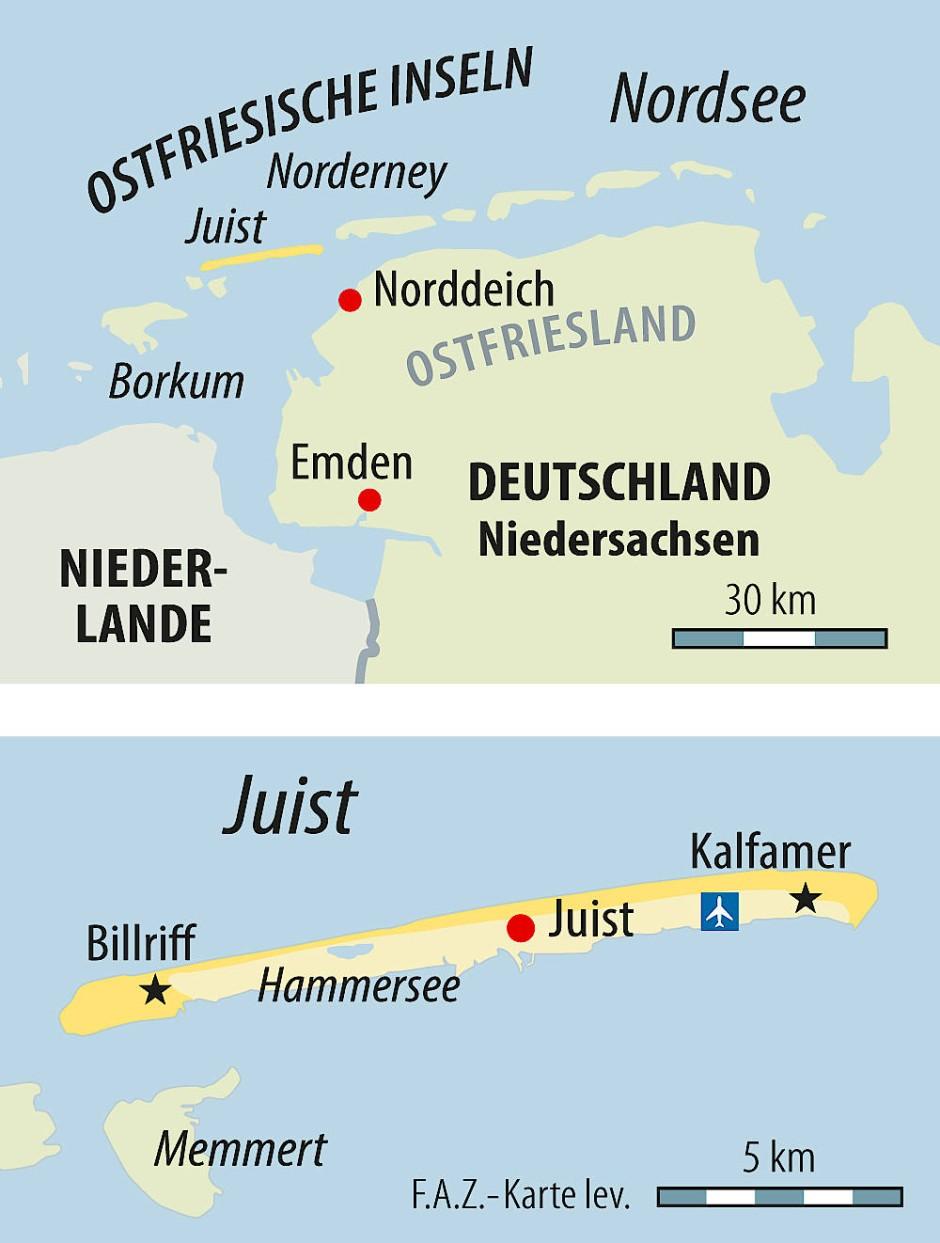 Juist Karte.Die Nordseeinsel Juist Will Klimaneutral Werden