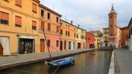 Kanäle um Ferrara: In Comacchio bei Ferrara.