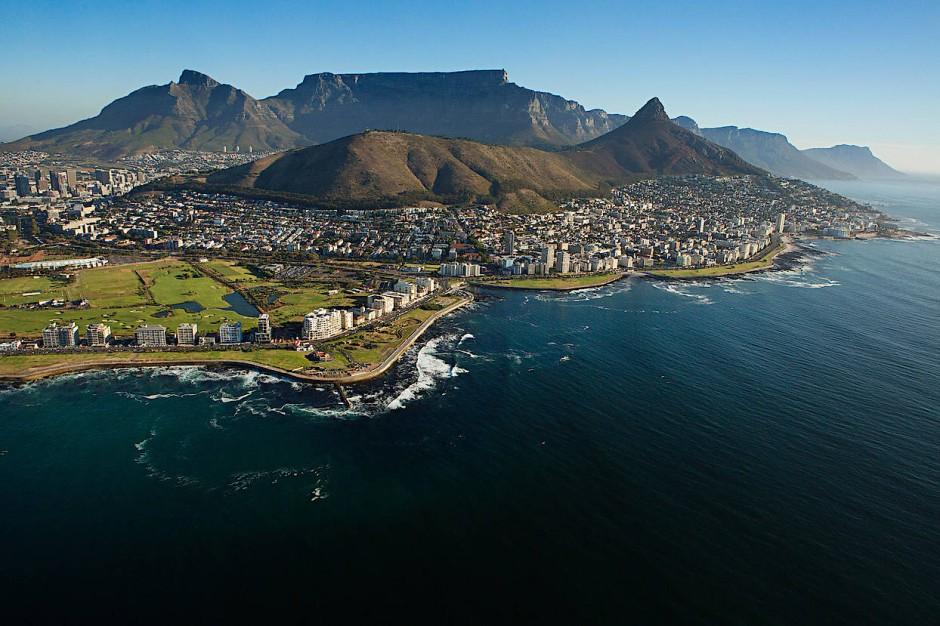 Essen, Familie und kleine Spaziergänge: Blick auf Kapstadt.