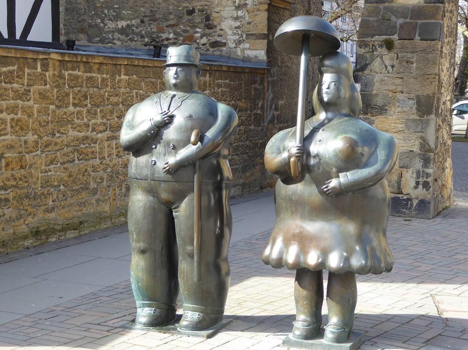 Bloß kein Schmalhans: Der kolumbianische Bildhauer Fernando Botero frönt auch in der Innenstadt von Goslar der Üppigkeit des Lebens.