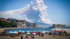 Der Anblick des Vulkans war vielversprechend