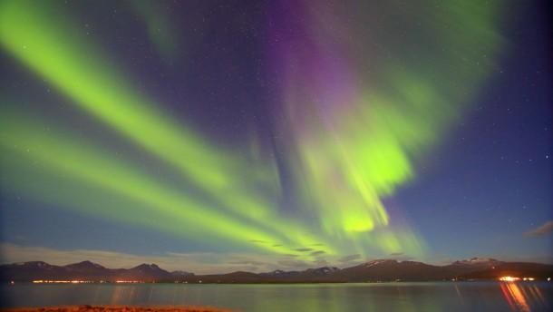 Polarlicht über Tromsö