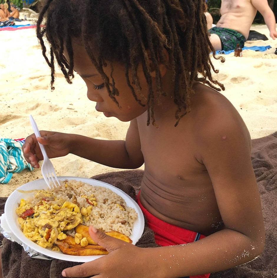 Akee - sieht wie Rührei aus, ist aber eine Baumfrucht und Teil des jamaikanischen Nationalgerichts.