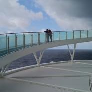 Die Einsamkeit des Kreuzfahrers: Die Aussichtsbrücke am Heck erlaubt kontemplative Momente.