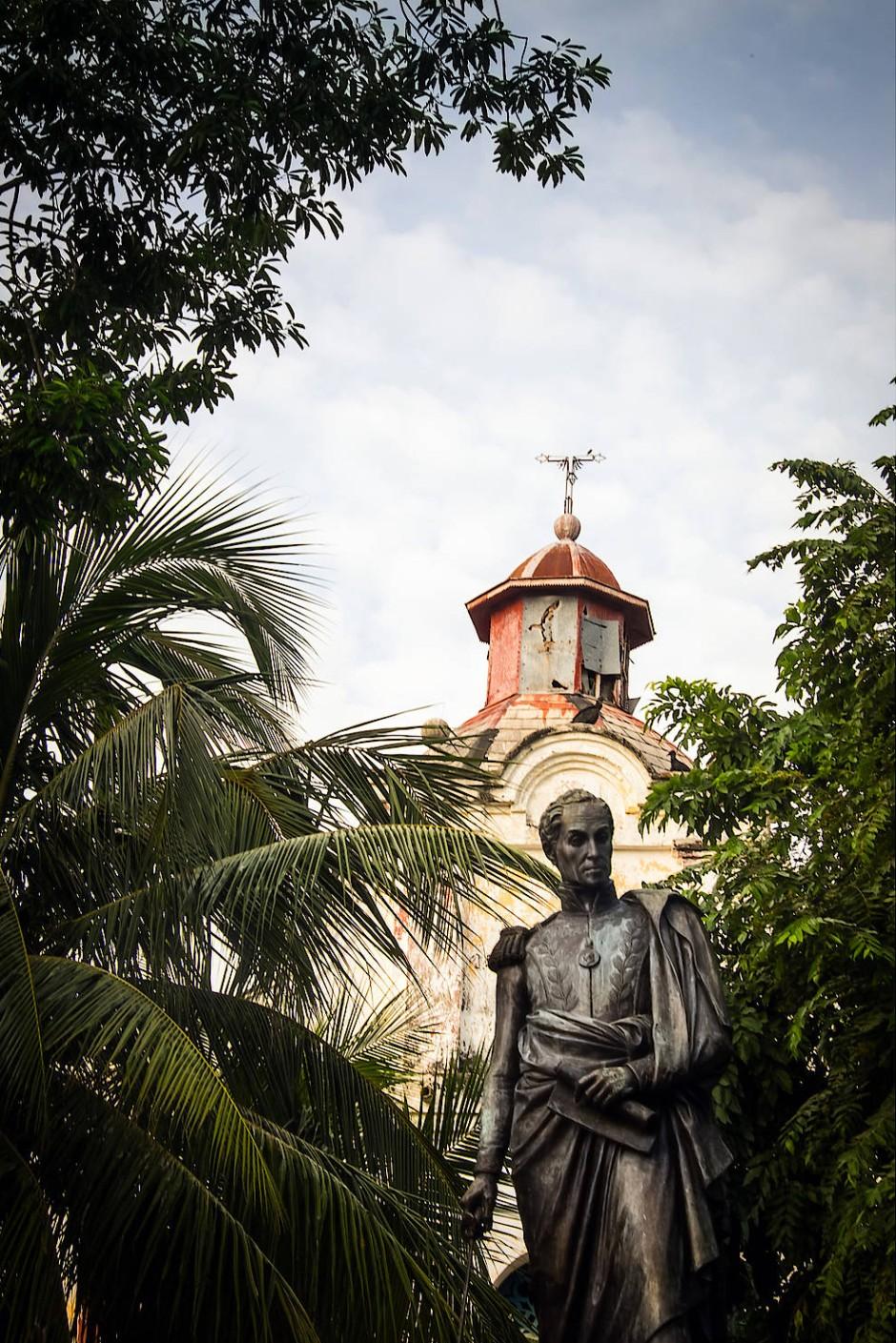Der Vater des Vaterlandes: Simón Bolívar selbst sagte, dass er den tapferen Momposinos seinen Ruhm verdanke.