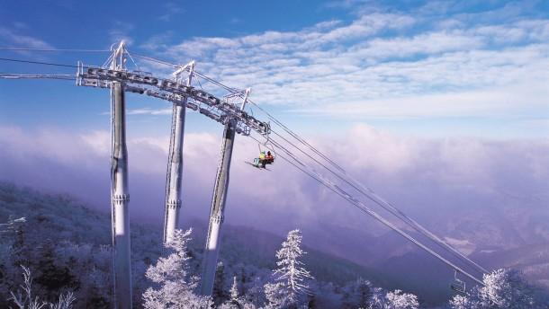 Wie fährt man auf dem Regenbogen Ski?