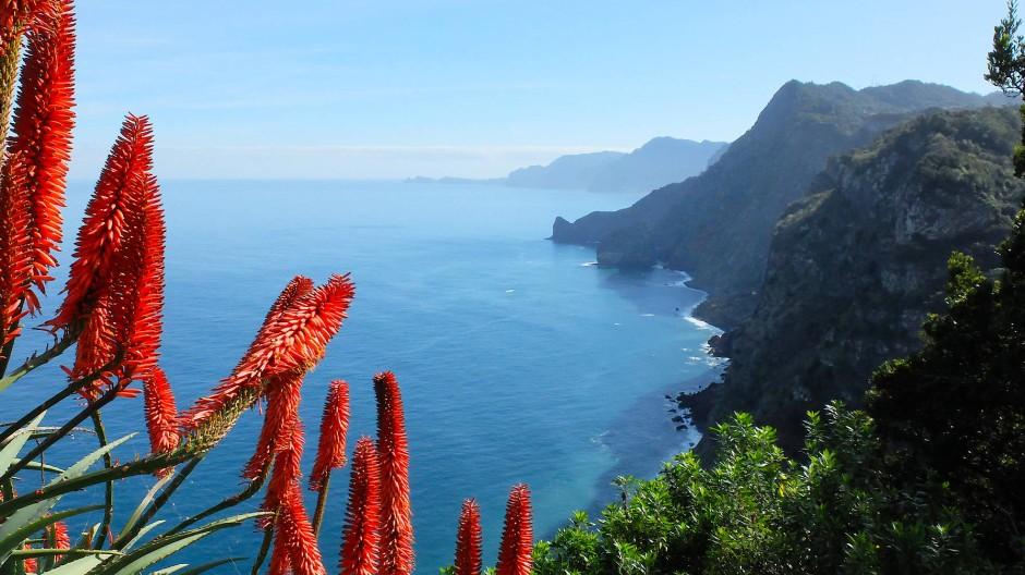 Farbenspiel: An der Nordküste Madeiras.
