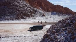Salz auf unserem Van