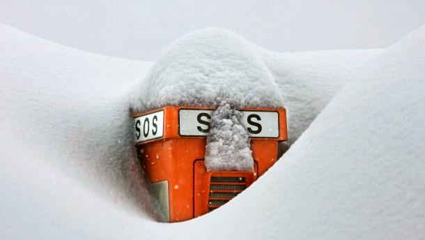 Schneeversunken