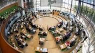 Sieht einfacher aus, als es ist: der sächsische Landtag