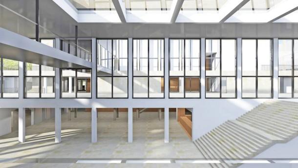 rhein main hallen in wiesbaden neubau wird teurer als geplant rhein main faz. Black Bedroom Furniture Sets. Home Design Ideas