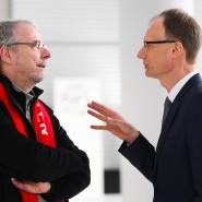 Wieder einmal vor schwierigen Verhandlungen: Opel-Chef Lohscheller (rechts) und Rüsselsheims Betriebsratsvorsitzender Schäfer-Klug