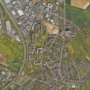 Großwohnsiedlung: Der Ben-Gurion-Ring in Frankfurt aus der Vogelperspektive