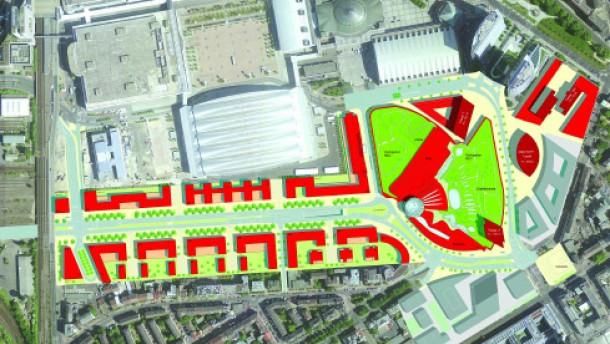 Weg für Skyline Plaza an der Frankfurter Messe frei