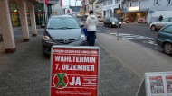 Sollen künftig nach dem Willen von Schwarz-Grün erleichtert werden: Bürgerentscheide in Hessen, hier ein Beispiel aus Altenstadt zur Ortsdurchfahrt