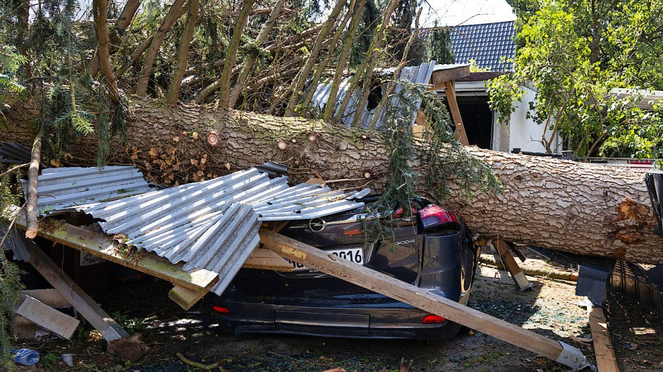 Die Folgen des Unwetters in Südhessen