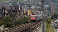 Lärmquelle: Güterzug im Mittelrheintal